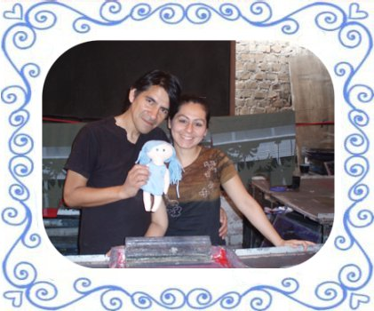 Ringelsuse.de-unsere Druckerei mit Gloria und Marco