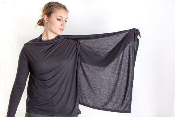 Sommer Jäckchen Jacke Baumwolle schwarz Überwurf
