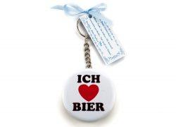 """Bieröffner/ Schlüsselanhänger """"Ich liebe Bier"""""""