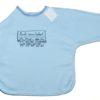 Blaues Babylätzchen mit langen Armen und Klettverschluss von Ringelsuse.de