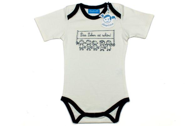 """Babystrampler """"Das Leben ist schön"""" Babybody als Geschenk zur Taufe von Ringelsuse.de"""