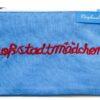 """Schminktäschchen """"Großstadtmädchen"""" blau"""