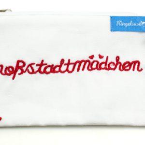 "Kulturbeutel ""Großstadtmädchen"" weiß"