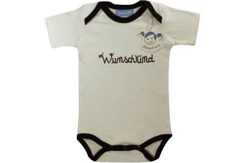 """Babybody """"Wunschkind"""" blau"""