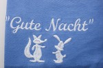 """Detail Nachthemd """"Fuchs und Hase"""""""