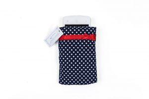 Etui Tasche Hülle Handy Polka Dots Blau Rot Fairtrade