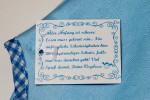 Detail Blaues Babylätzchen