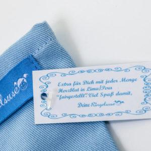 Ladegerät Tasche in Hellblau mit Stickerei von Ringelsuse