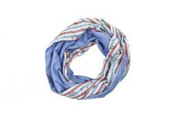 Schal mit Streifen und Blümchen