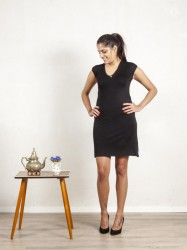 Schwarzes Kleid  'Herzdame'