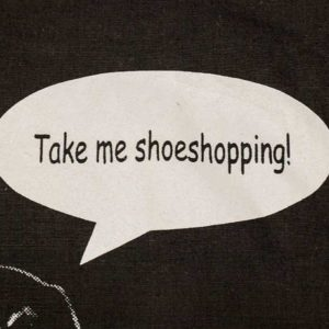 "Beutel ""Take Me Shoeshopping"" Detail"