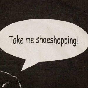 """Beutel """"Take Me Shoeshopping"""" Detail"""