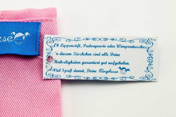 "Kosmetikbeutel ""Mädchenkram"" rosa Detail"