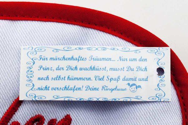 """Schlafmaske """"Dornröschen"""", Detail"""