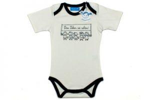 Süßes Geschenk zur Taufe Babybodie mit Aufdruck Das Leben ist schön