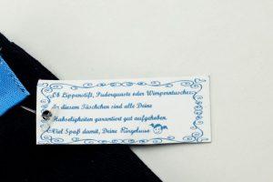 Niedliches Etikett Kosmetikbeutel dunkelblau