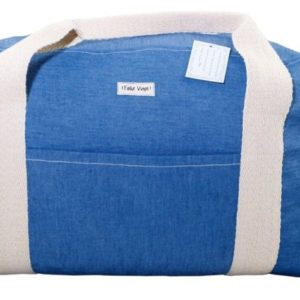 """Sporttasche """"Feliz Viaje"""" aus blauem Jeansstoff für Mädels von Ringelsuse"""