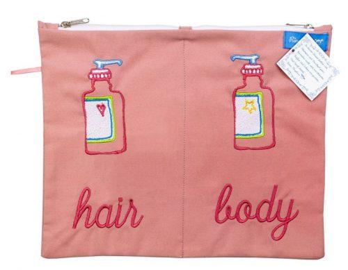 Beutel für Shampoo und Duschgel Hair and body wasserabweisend