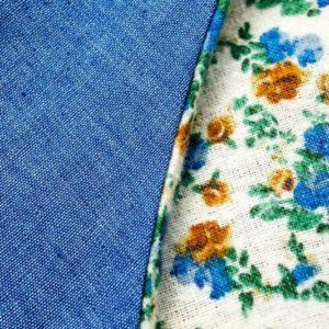 jeans retro vintage tasche mit blümchen von ringelsuse
