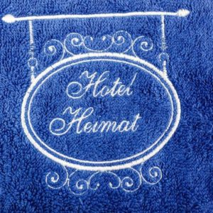 Niedliches Handtuch mit stickerei hotel heimat