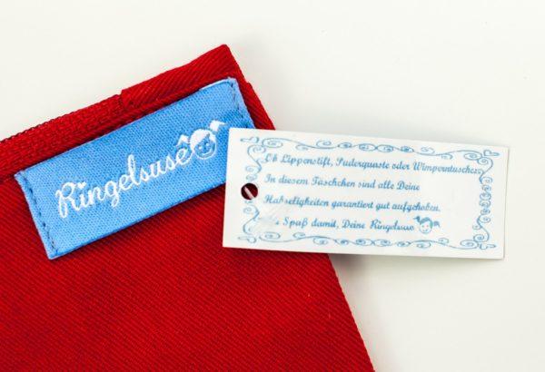 """Schminkbeutel/Kulturtasche """"Frau Bachelor"""" 100% Baumwolle von Ringelsuse"""