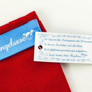 """Schminkbeutel/Kulturtasche """"Frau Doktor"""" 100% Baumwolle von Ringelsuse"""
