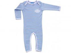 Pyjama Kleinkinder blau weiß gestreift