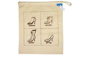 Schuhtasche aus Jute mit Print von Ringelsuse
