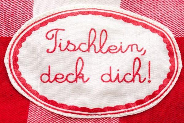 Tischläufer rot weiß karo, süß, ideal als Geschenk