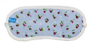 Blaue Schlafmaske Blumen Baumwolle