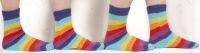 Ringelsocken bunt in Regenbogen Farben