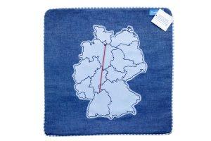 Geschenk  für die Fernbeziehung Kissen mit Deutschlandkarte