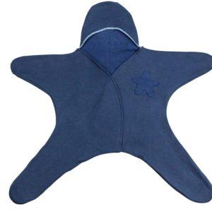 Baby Einteiler Stern Sternchen blau Baumwolle