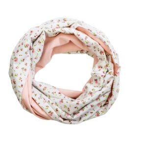 Schal altrosa Blumen