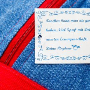 Sporttasche Jeans rot