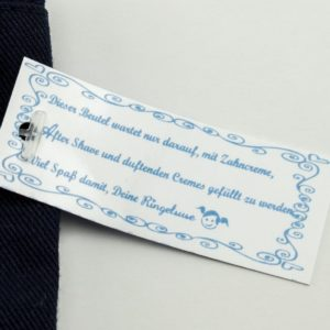 Waschbeutel Necessaire Kulturbeutel Mann Männer Geschenk blau Fairtrade