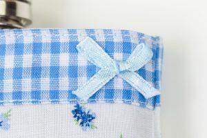 Flachmann Damen Frauen Mädchen Geschenk blau Rosen kariert