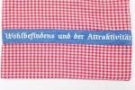 Kulturbeutel Kosmetiktasche kariert Jeans rot weiß