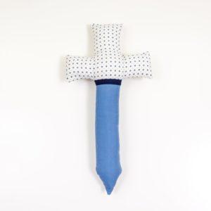 Spielzeugschwert Schwert Jungen Mädchen genäht blau weiß