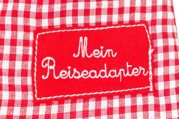Weltadapter Reise Adapter hübsch rot weiß Mädchen Geschenk