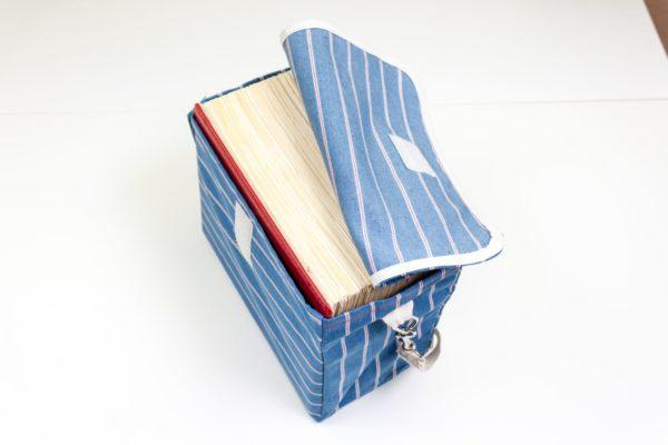 Tasche Gesetze Jura Uni Damen Mädchen blau Vintage