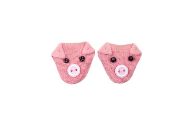 Glücksbringer Schwein Schweinchen Talisman pink rosa Knopfaugen