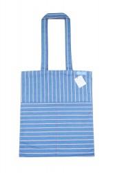 Stoff Tasche Henkeltasche Baumwolltasche Shopper Schultertasche Uni blau weiß rot