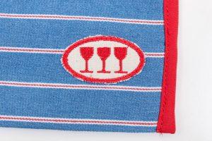 Beutel Weinglas Probier Glas Wein umhängen Wolle