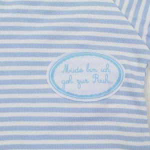 Baby >>Schlafanzug blau weiß geringelt