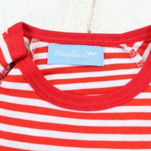 Babyschlafanzug rot weiß